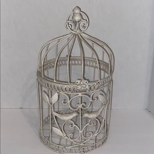 Decorative white bird cage